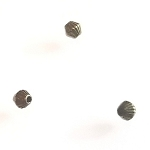 100 Antique Bronze 4mm Corrugated Bicone Metal Spacer Beads