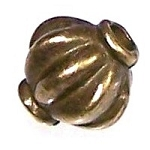 50 Antique Bronze 8mm Decorative Bicone Metal Beads