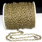 8 Ft (2.5 meters) of Antique Bronze Cable Chain 7x5.5mm
