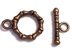 10 Antique Copper 12mm Segmented Toggle Clasps