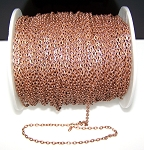 16 Ft (5 meters) of Antique Copper Cable Chain 4x3mm