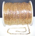 16 Ft (5 meters) of Antique Gold-Plated Cable Chain 4x3mm