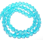 1 Strand of 8mm Glass Crystal Rounds - Aqua