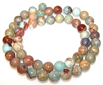 1 Strand of 8mm Round Semiprecious Gemstone Beads - Aqua Terra Jasper
