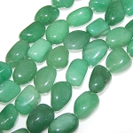 1 Strand of Semiprecious Gemstone Large Nugget Beads - Aventurine