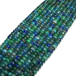 1 Strand of 8x5mm Puff Rondelle Semiprecious Gemstone Beads - Azurite