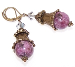 Beaming Bellflower Earrings Beaded Jewelry Making Kit