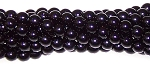 1 Strand of Czech Glass 4mm Pearl Beads - Black