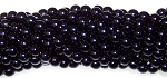 1 Strand of Czech Glass 6mm Pearl Beads - Black