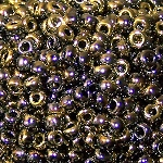 7.5 Grams Of Miyuki Czech Unions Size 8 Seed Beads - Jet California Graphite