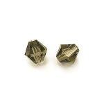 1 Dozen Preciosa 8mm Bicones - Black Diamond