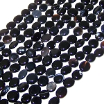 1 Strand of Black Onyx 7x10mm Irregular Nuggets Semiprecious Gemstone Beads