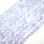 1 Strand of Blue Lace Agate 7x10mm Irregular Nuggets Semiprecious Gemstone Beads