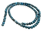 1 Strand of 4mm Round Semiprecious Gemstone Beads - Blue Picasso Jasper