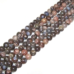 1 Strand of 8mm Round Semiprecious Gemstone Beads - Blue Rainbow Opal