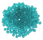 4 Dozen Czech 3mm Fire-Polished Glass Beads - Blue Zircon