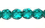 2 Dozen Czech 8mm Fire-Polished - Blue Zircon