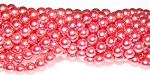 1 Strand of Czech Glass 6mm Pearl Beads - Blush
