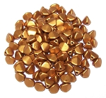 7.5 Grams of Czech 7mm Pinch Beads - Brass Gold