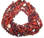 Brecciated Jasper Semiprecious Gemstone Beads - 8 Strand Set