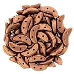 7.5 Grams of CzechMates Crescent Czech Glass Beads - Bronze Copper