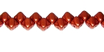 40 Czech Glass Silky 2-Hole 6mm Beads - Crystal Bronze Fire Red