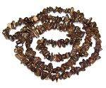 1 Strand of Semiprecious Gemstone Chip Beads - Bronzite