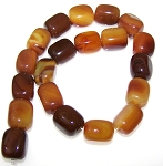 1 Strand of Semiprecious Gemstone Large Nugget Beads - Brown Agate