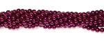 1 Strand of Czech Glass 4mm Pearl Beads - Burgundy