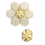 4 Gold-Plated Stelida Honeycomb Bead Substitute
