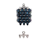 2 Antique Silver Rozos Iii Superduo Bead Ending