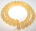 1 Dozen 8mm Round Semiprecious Gemstone Beads - Calcite