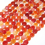 1 Strand of Red Carnelian 7x10mm Irregular Nuggets Semiprecious Gemstone Beads