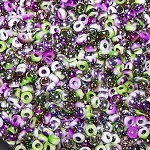 7.5 Grams of Miyuki Czech Unions Size 11 Seed Beads - Chalk Opaque Funky Orchid