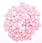 5 Grams of 4mm Czech Glass Button Beads - Chalk White Lila Luster