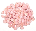7.5 Grams of Czech 7mm Pinch Beads - Chalk White Red Luster