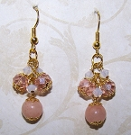 Cherry Blossoms Earrings Beaded Jewelry Making Kit