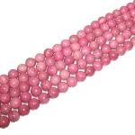 1 Strand of 8mm Round Semiprecious Gemstone Beads - Chinese Rhodonite