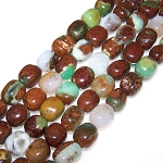 1 Strand of Semiprecious Gemstone Large Nugget Beads - Natural Chrysoprase