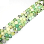 1 Strand of 8mm Round Semiprecious Gemstone Beads - Chrysotine