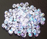 4 Dozen Czech 6mm Fire-Polished - Crystal AB