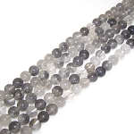 1 Strand of 8mm Round Semiprecious Gemstone Beads - Cloudy Quartz