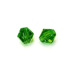 1 Dozen Preciosa 6mm Bicones - Coated Olivine