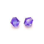 1 Dozen Preciosa 6mm Bicones - Coated Tanzanite