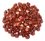 7.5 Grams of Czech 7mm Pinch Beads - Copper