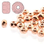 2.5 Grams of 2x3mm Czech Glass Faceted Micro Spacers - Copper Plate