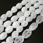 1 Strand of Semiprecious Gemstone Large Nugget Beads - Crackle Crystal