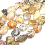 1 Strand of Semiprecious Gemstone Large Nugget Beads - Crazy Lace Agate