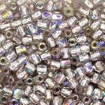 4 Dozen Czech 2mm Fire-Polished Glass Beads - Crystal AB Silver Lined