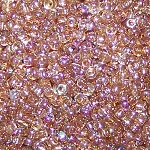 7.5 Grams of Miyuki Czech Unions Size 11 Seed Beads - Crystal Brown Rainbow